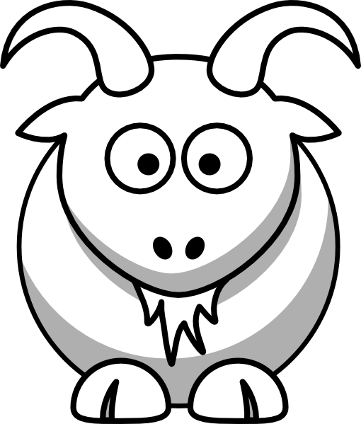 image black and white stock Goat black and white clipart. Boer drawing at getdrawings