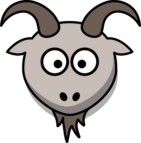 svg royalty free library Goat Cartoon Head Clip Art at Clker