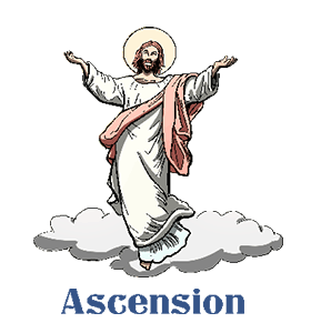 black and white Monday clipart sunday. Heaven ascension free on.