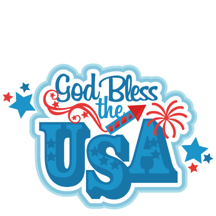 graphic Usa svg 4th july. God bless the title