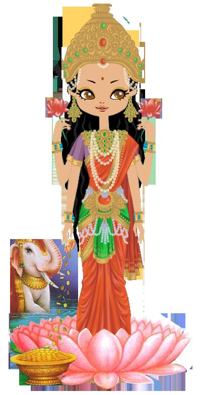 clipart royalty free download God clipart kingdom god. Goddess lakshmi by marasop