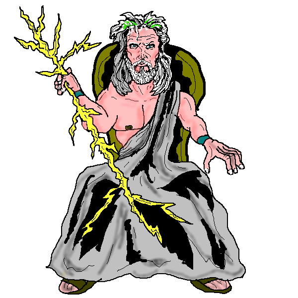 jpg royalty free download  collection of god. Zeus clipart illustration