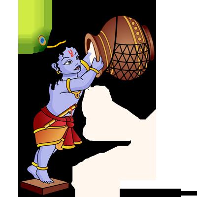 clip art free download Krishna bal pencil and. God clipart vitthal