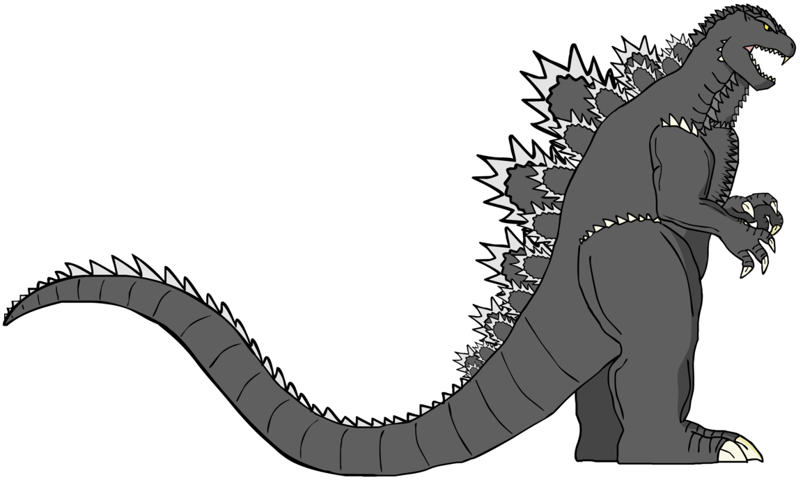 clip freeuse Godzilla vector. S design the wrathful