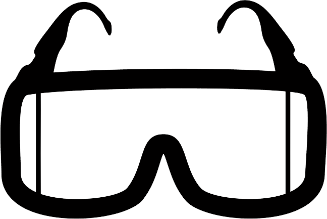 vector black and white library Eye protection free on. Goggles clipart