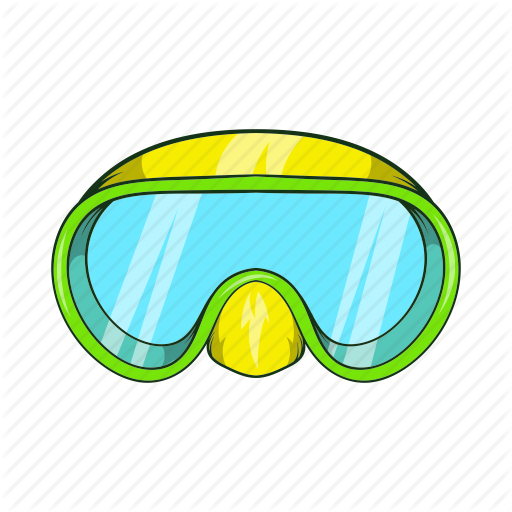 vector freeuse download Water sport icons set. Goggles clipart diving goggles