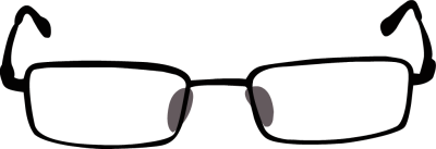vector black and white download Goggles clipart spectacles frame. Glasses panda free images