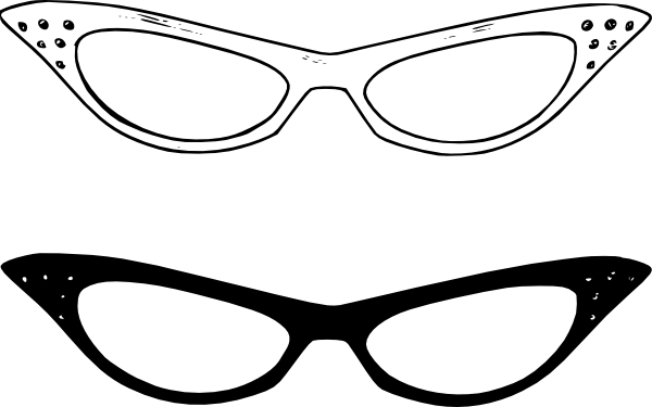jpg black and white download Retro glasses clip art. Goggles clipart women's