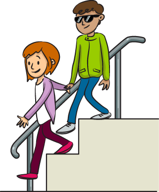 jpg transparent library Boy down stairs behavior. Going to clipart.