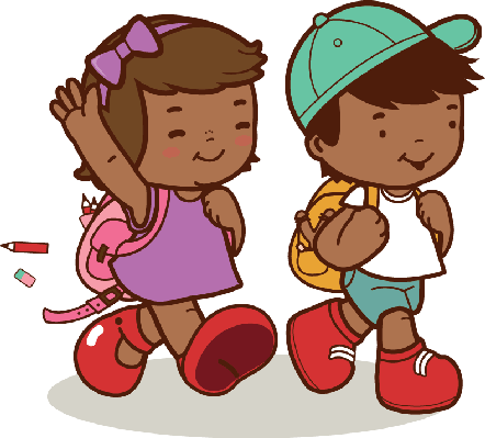 svg transparent download Walking to class clipart. African american kids walk.