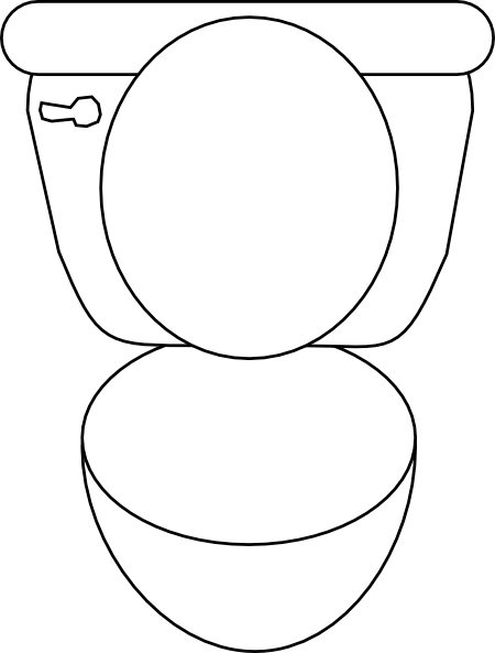 clip art black and white library Toilet Clip Art at Clker