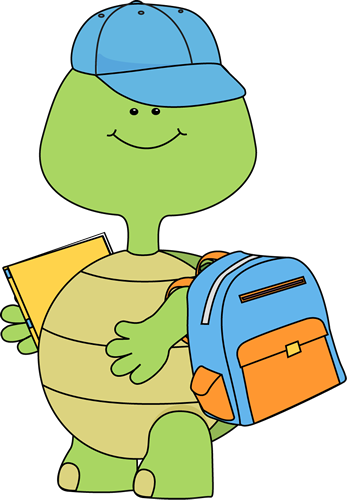 jpg royalty free Turtle school clip art. Going to clipart boy
