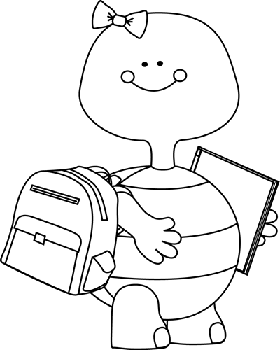 png transparent download Turtle going to clip. School clipart black and white