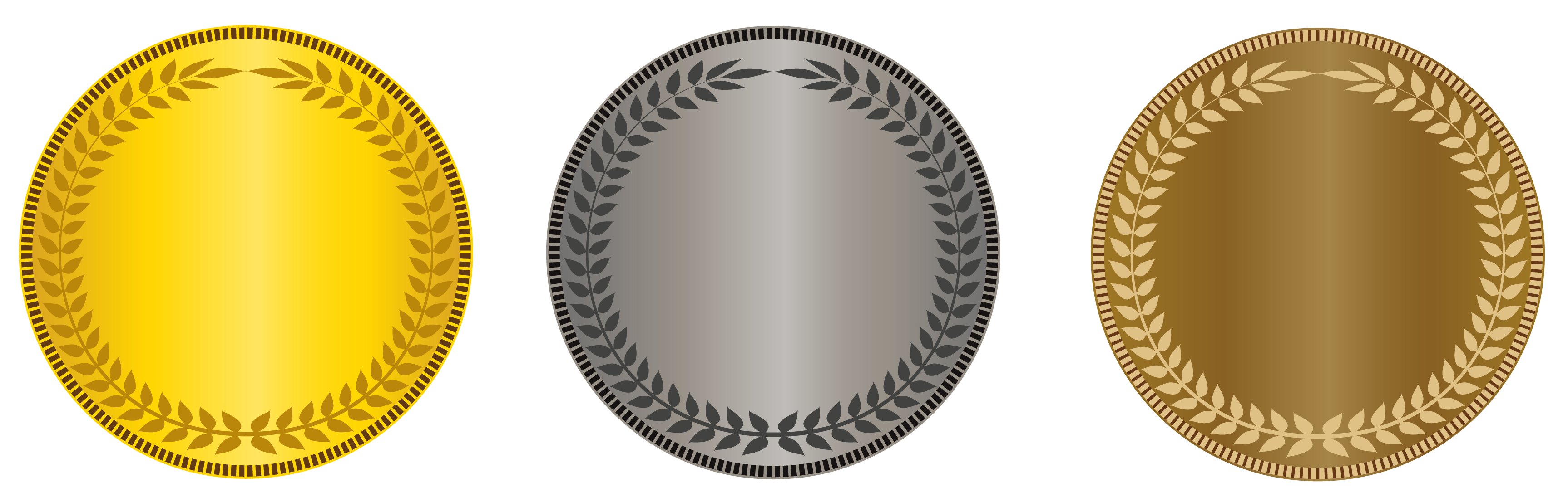 vector library Gold and silver clipart. Transparent bronze medals png