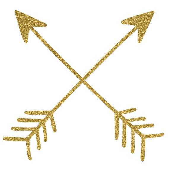 jpg royalty free library Arrows clip art glitter. Gold arrow clipart.