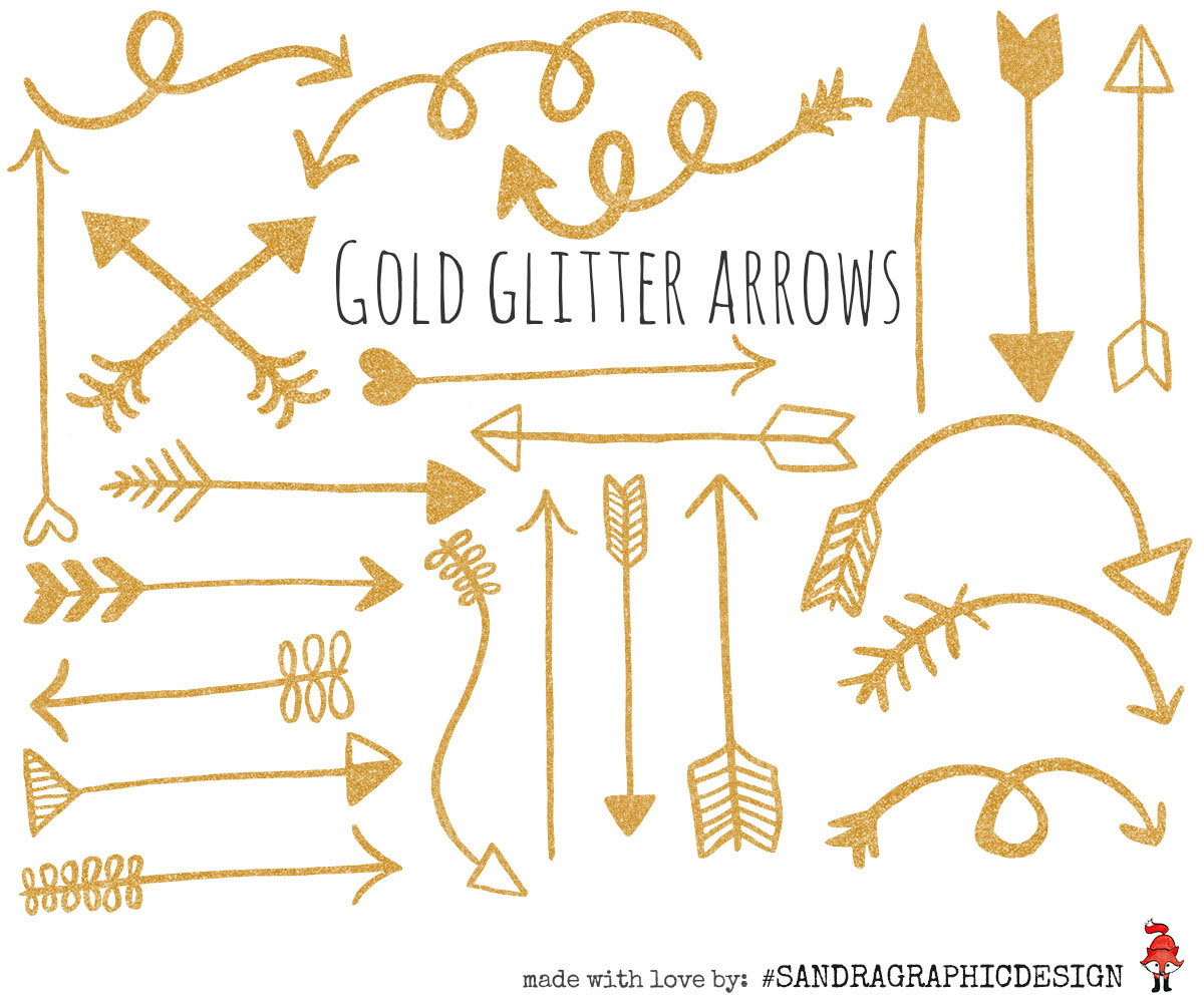 jpg transparent download Free golden cliparts download. Gold arrow clipart.