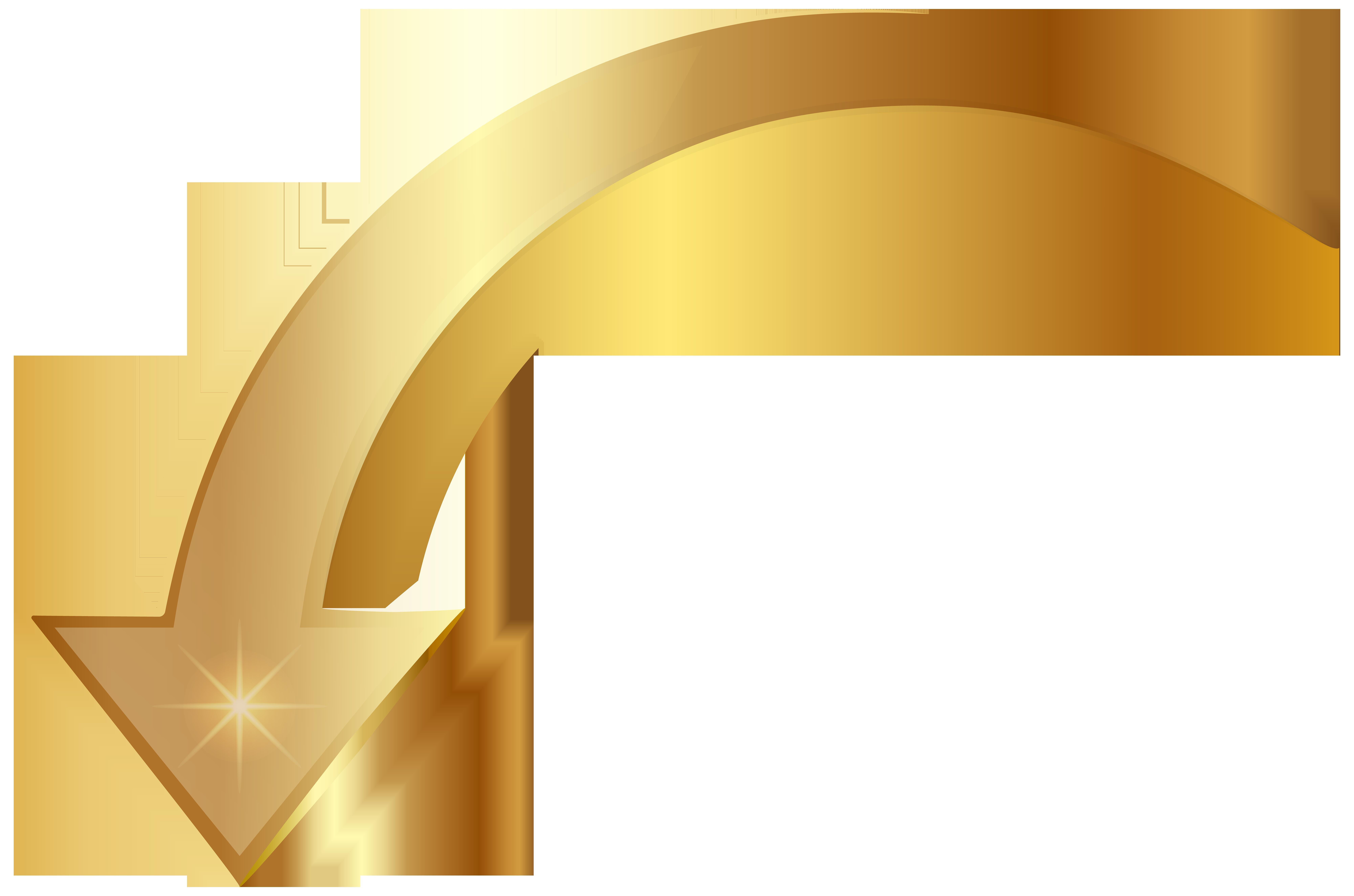 vector free download Png clip art image. Gold arrow clipart