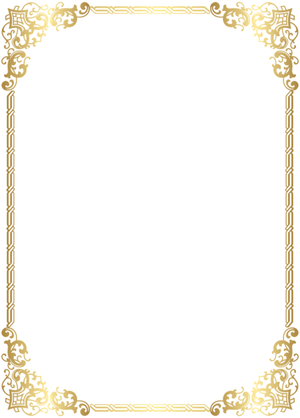 graphic freeuse library Clipart borders. Gold border frame transparent