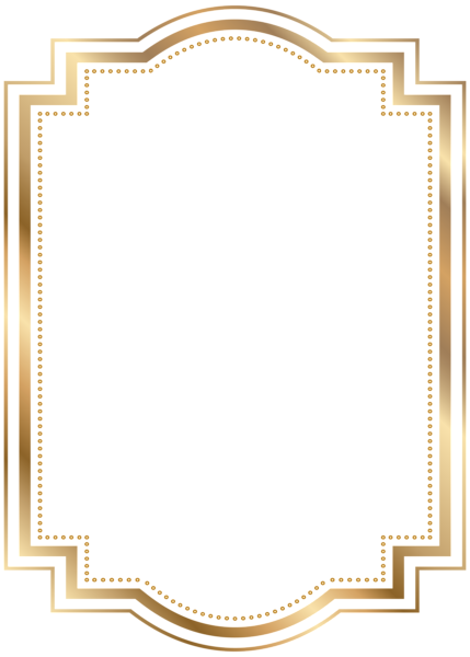 clipart black and white download Border Frame Gold Transparent Clip Art