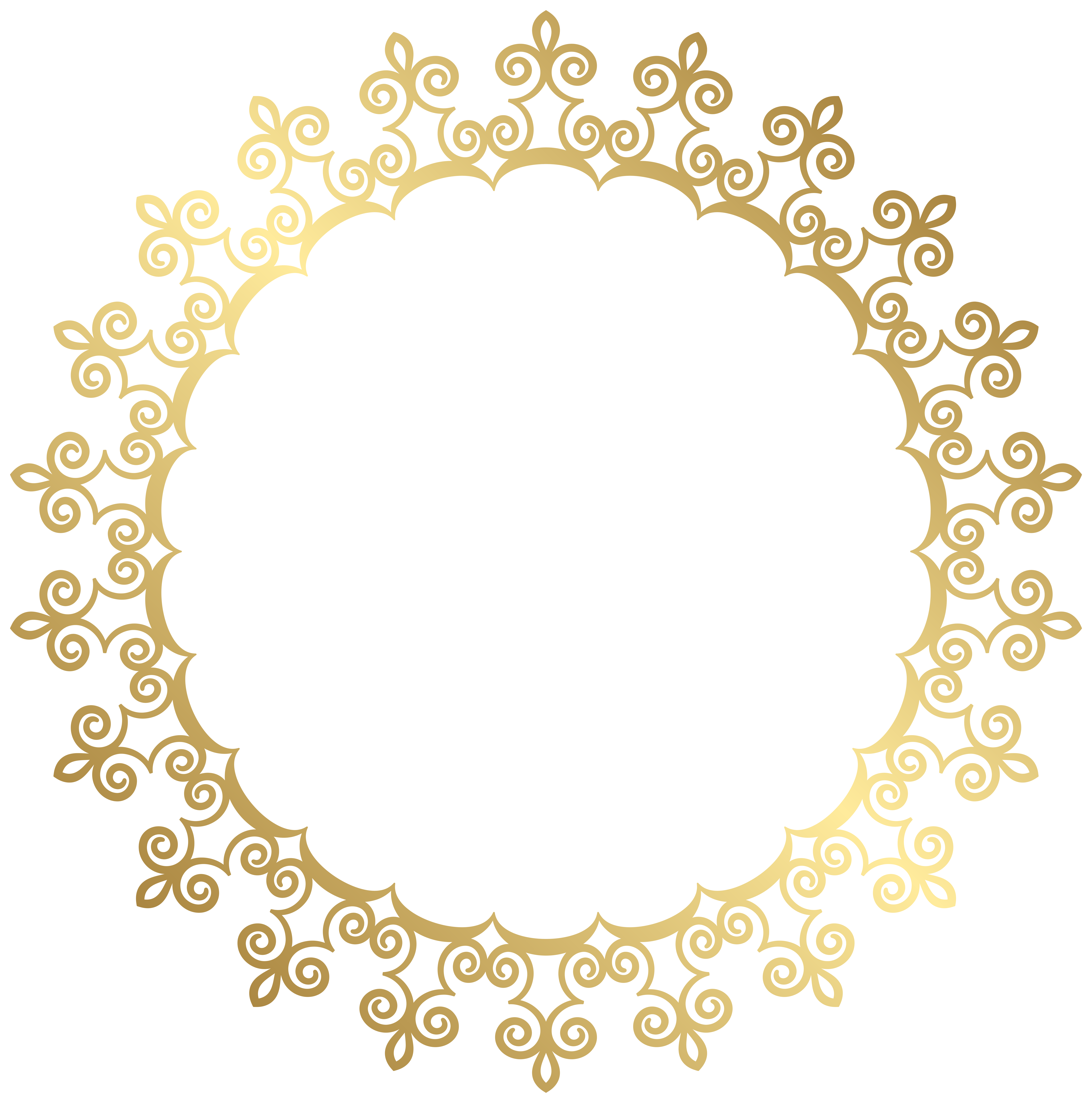 clipart royalty free stock Round border frame transparent. Gold clipart boarder