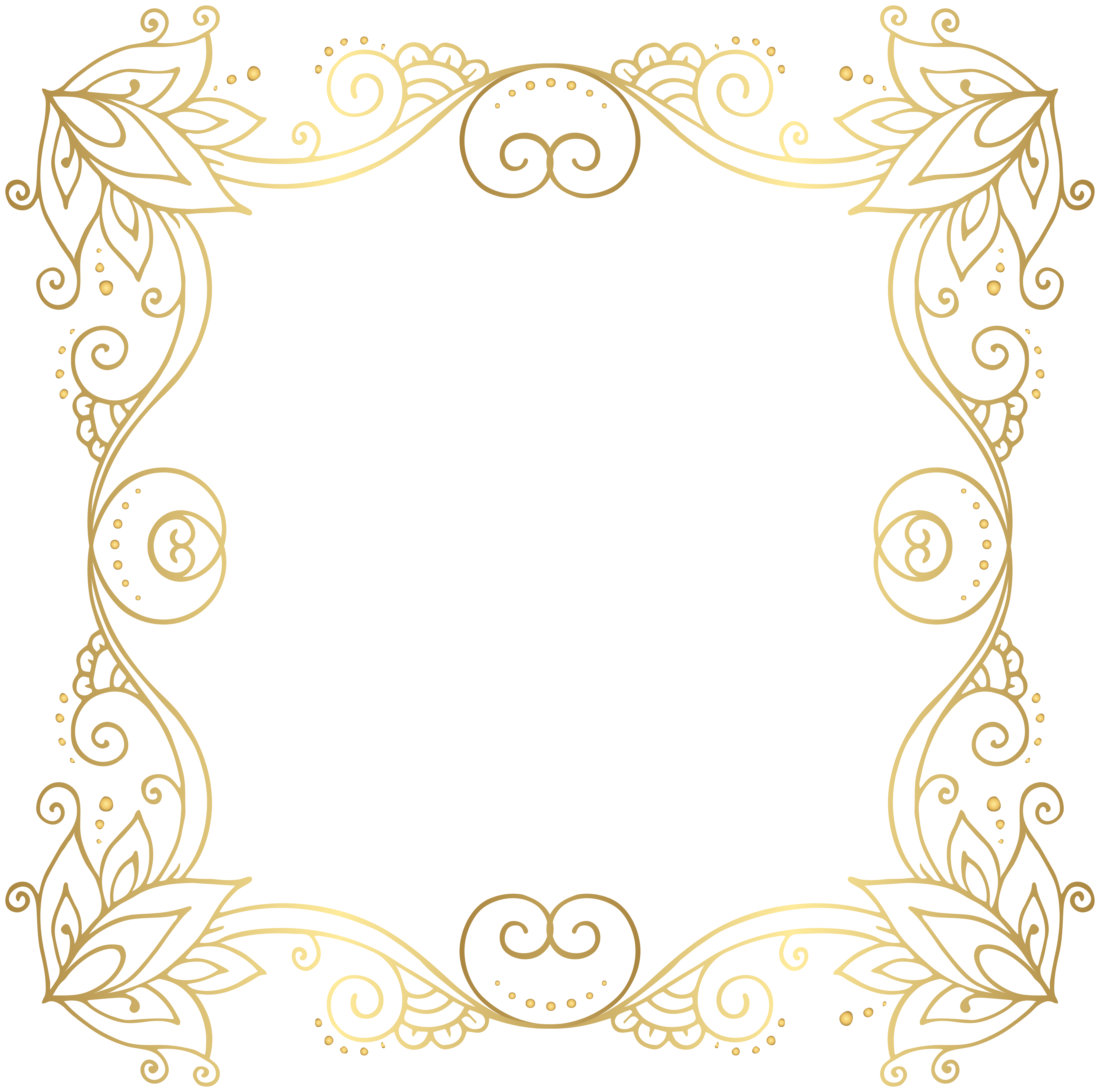 clip black and white stock Frame border transparent borders. Gold clipart fancy