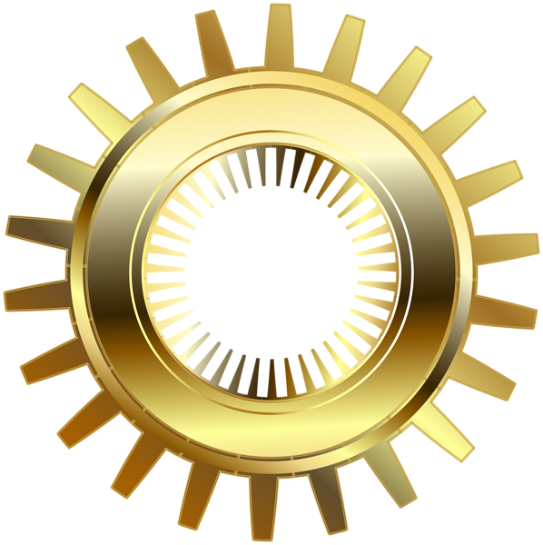 banner library Gold Steampunk Gear PNG Clip Art
