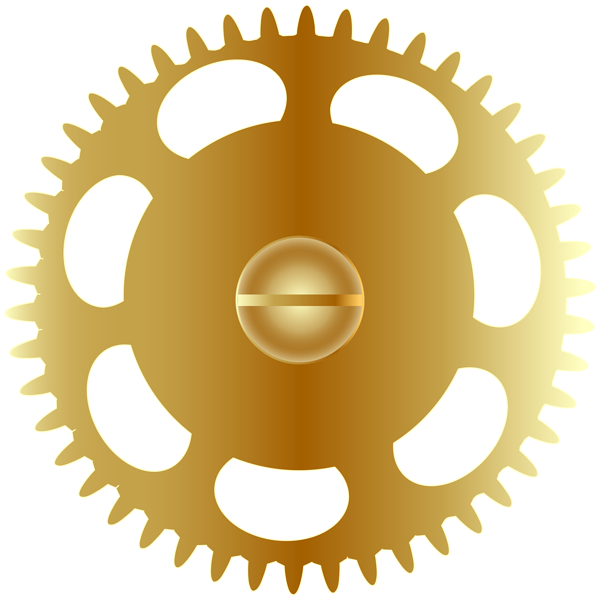 vector transparent download Gold clipart gears. Steampunk gear png clip