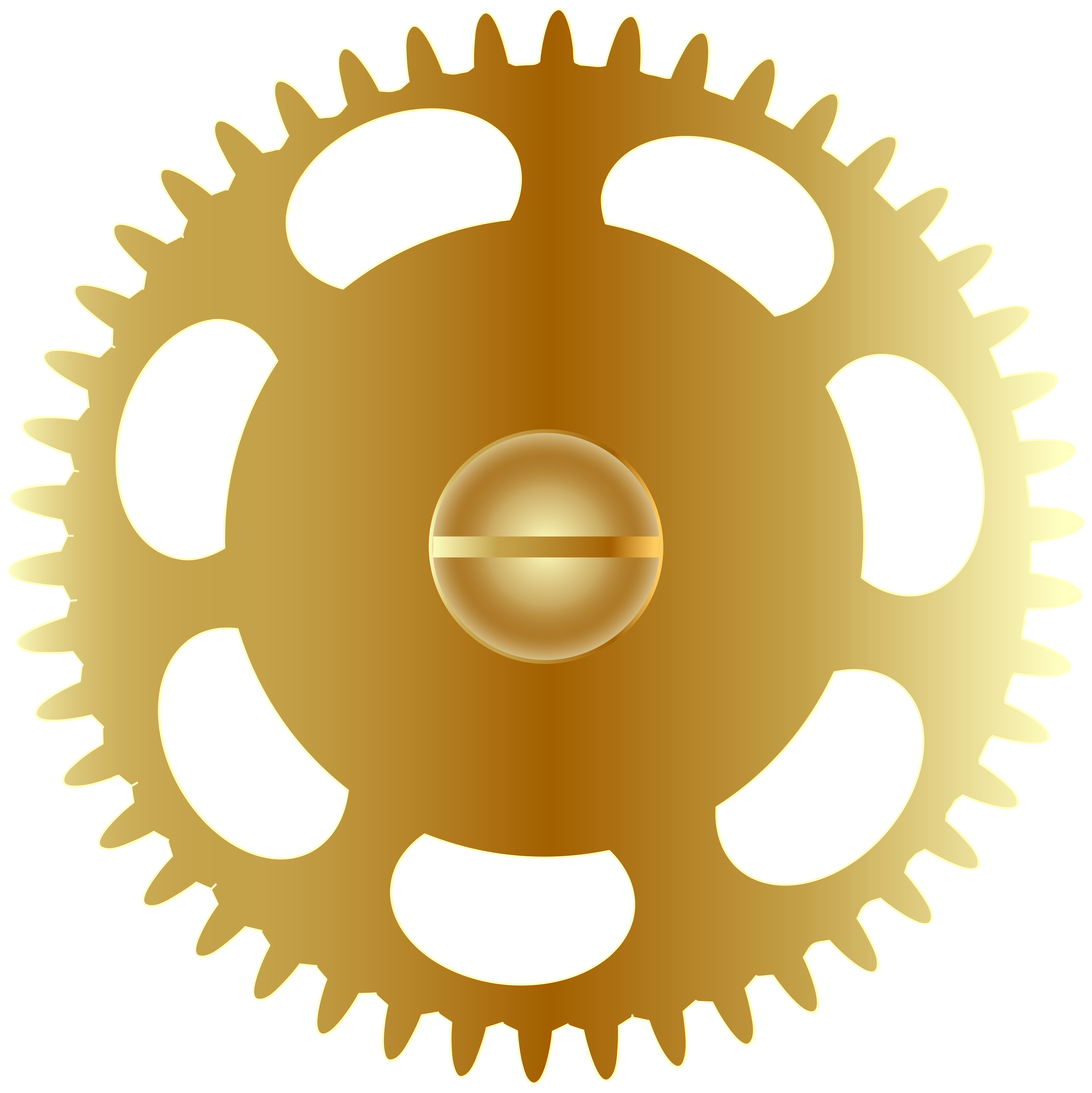 image library stock Steampunk gear png clip. Gold clipart gears