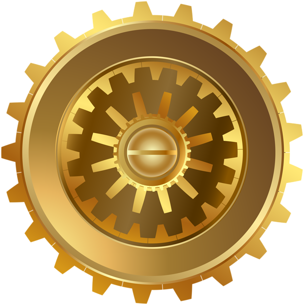 vector transparent download Steampunk gear png clip. Gold clipart gears
