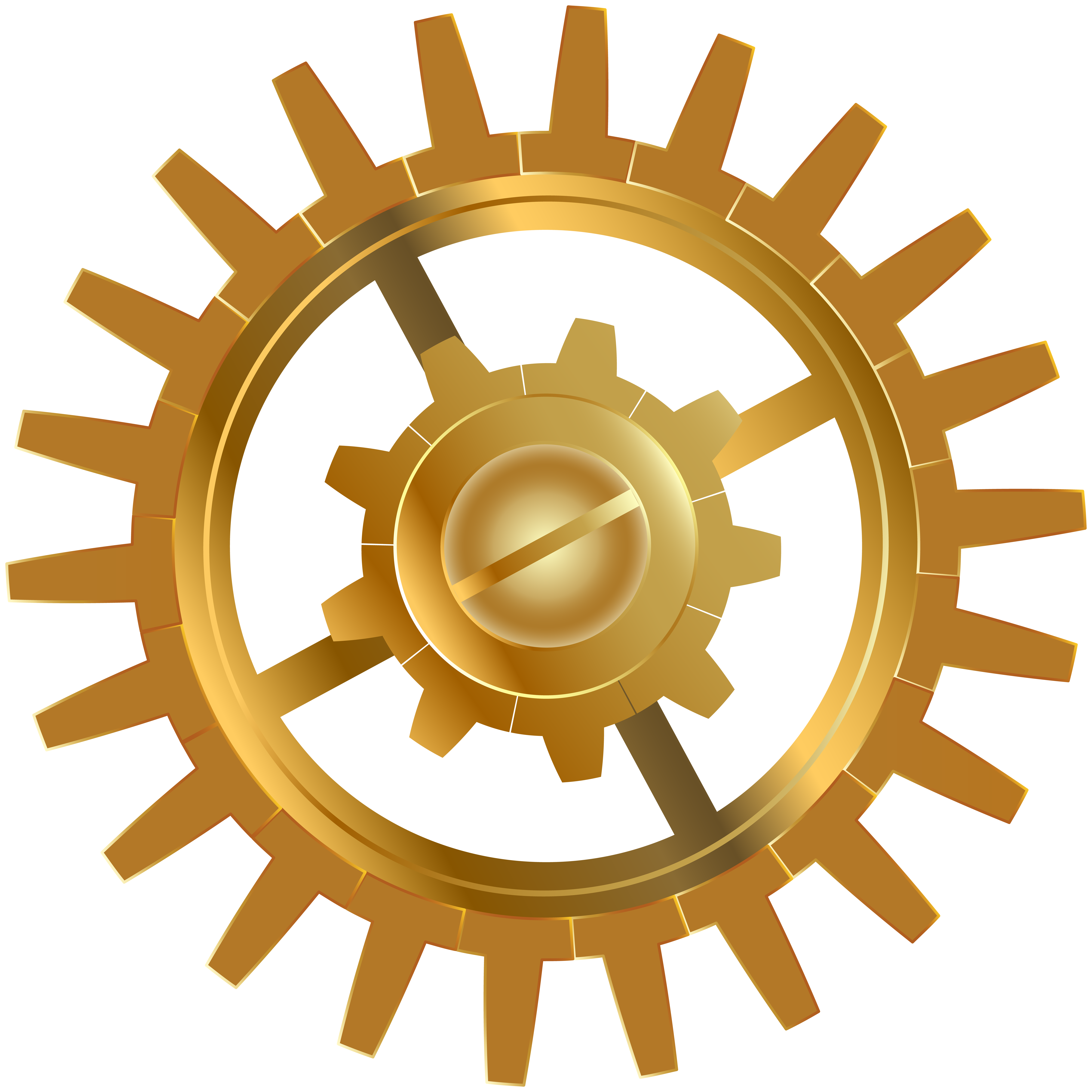 image transparent library Gold clipart gears. Gear clip art png