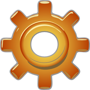image library library Gold clipart gears. Single gear clip art