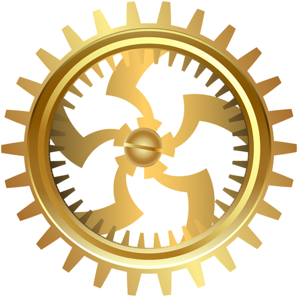 banner royalty free stock Gold clipart gears. Gear transparent png clip