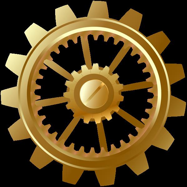 jpg free Gold clipart gears. Gear clip art png