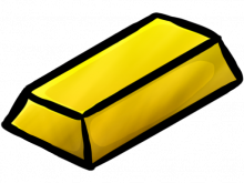 clipart free stock Gold clipart gold block. Bar minecraft ingot icon