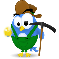 svg freeuse Twitter icon png image. Gold clipart gold digger