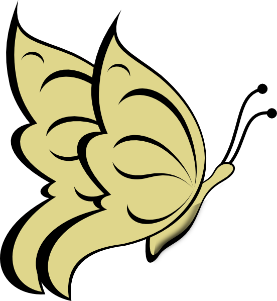 banner royalty free stock Gold clipart pure gold. Butterfly clip art at