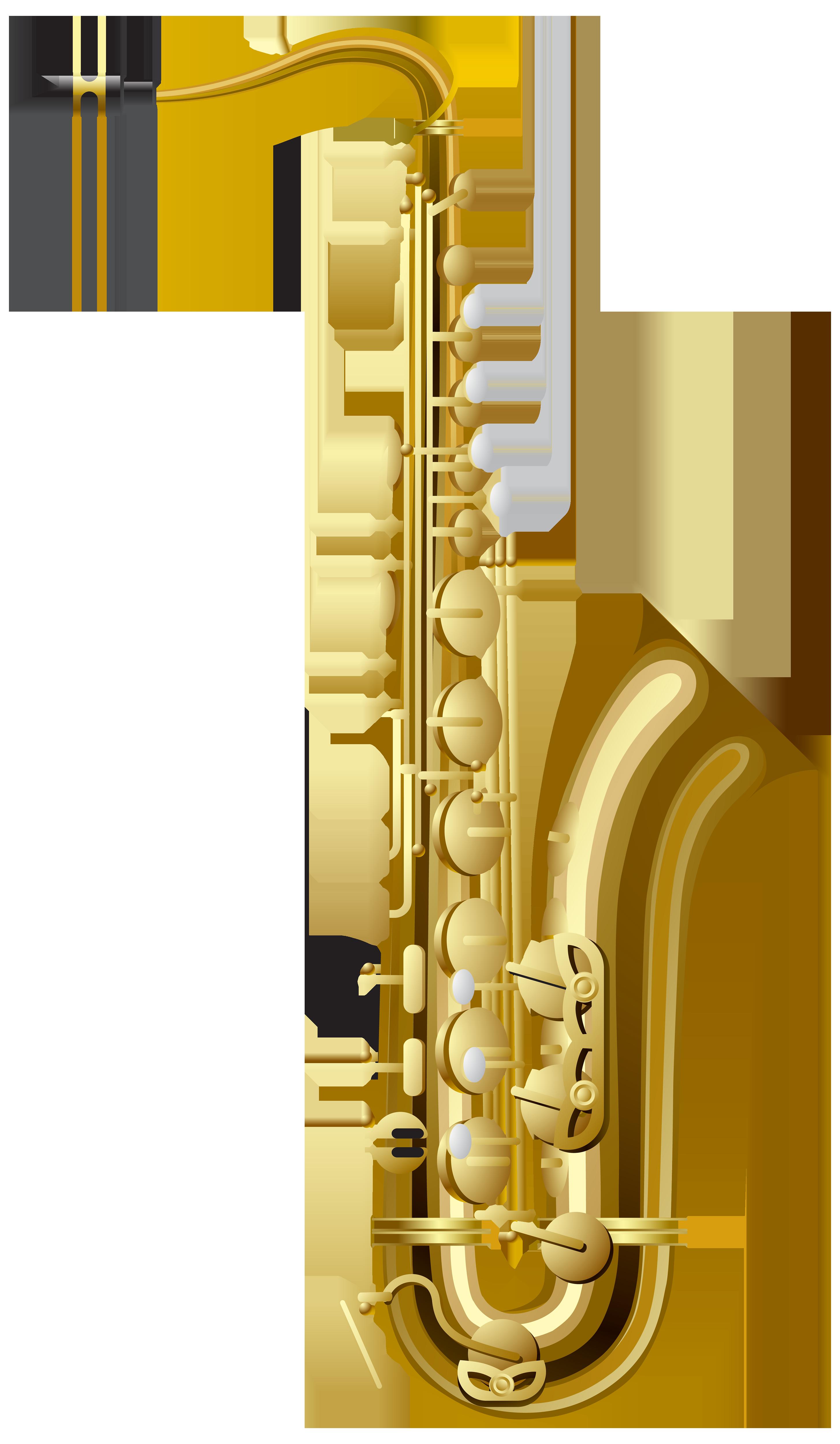 graphic transparent Png best web. Gold clipart saxophone