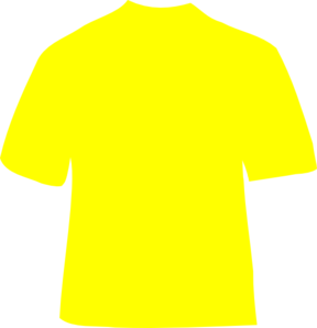 picture black and white download Yellow t shirt clip. Gold clipart tshirt