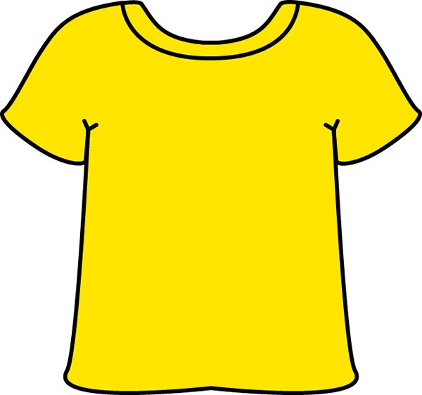 vector library Gold clipart tshirt. Yellow clip art image