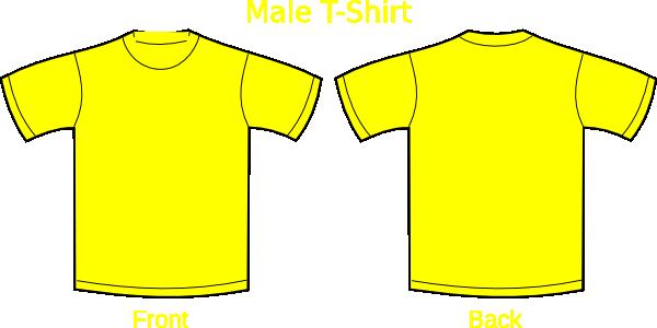 clip art freeuse library Gold clipart tshirt. Plain t shirts yellow
