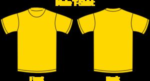 jpg transparent download Green t shirt clip. Gold clipart tshirt