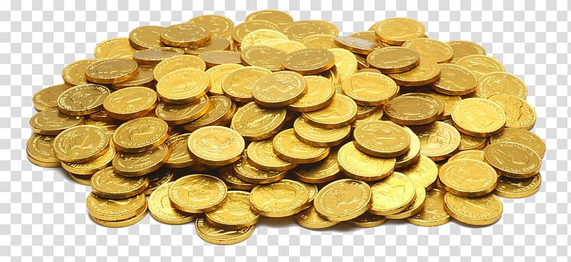 picture freeuse library Gold coins clipart. Colored coin bullion a
