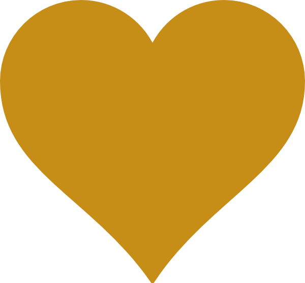 clip art free download Solid Gold Heart Clip Art at Clker