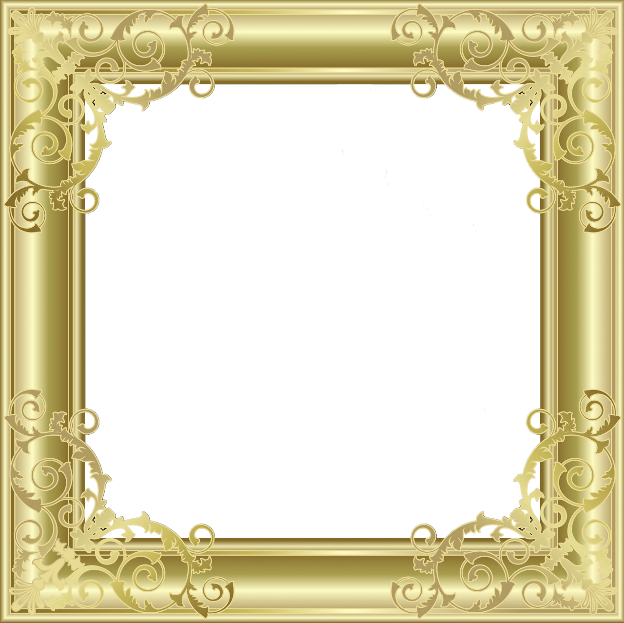 clip art library Gold Transparent PNG Photo Frame