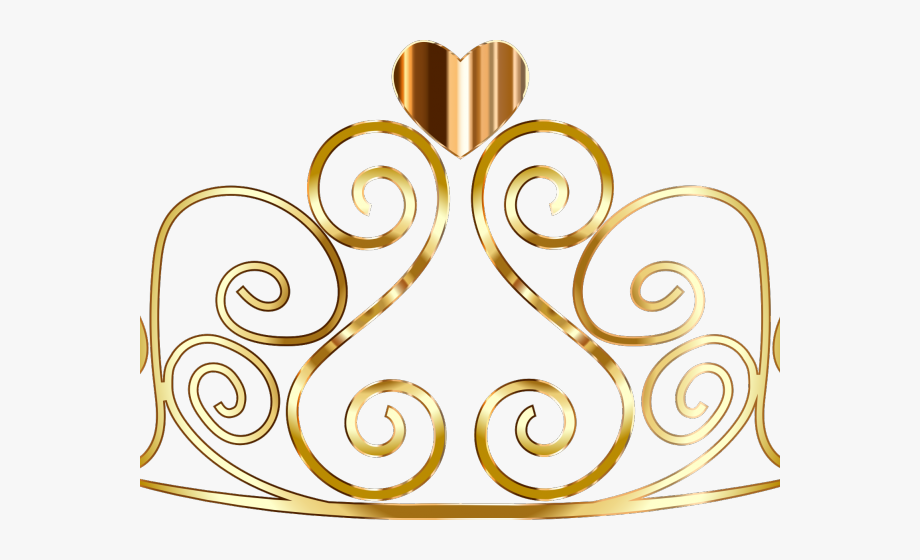 clip art black and white library Gold tiara clipart. Quinceanera princess crown