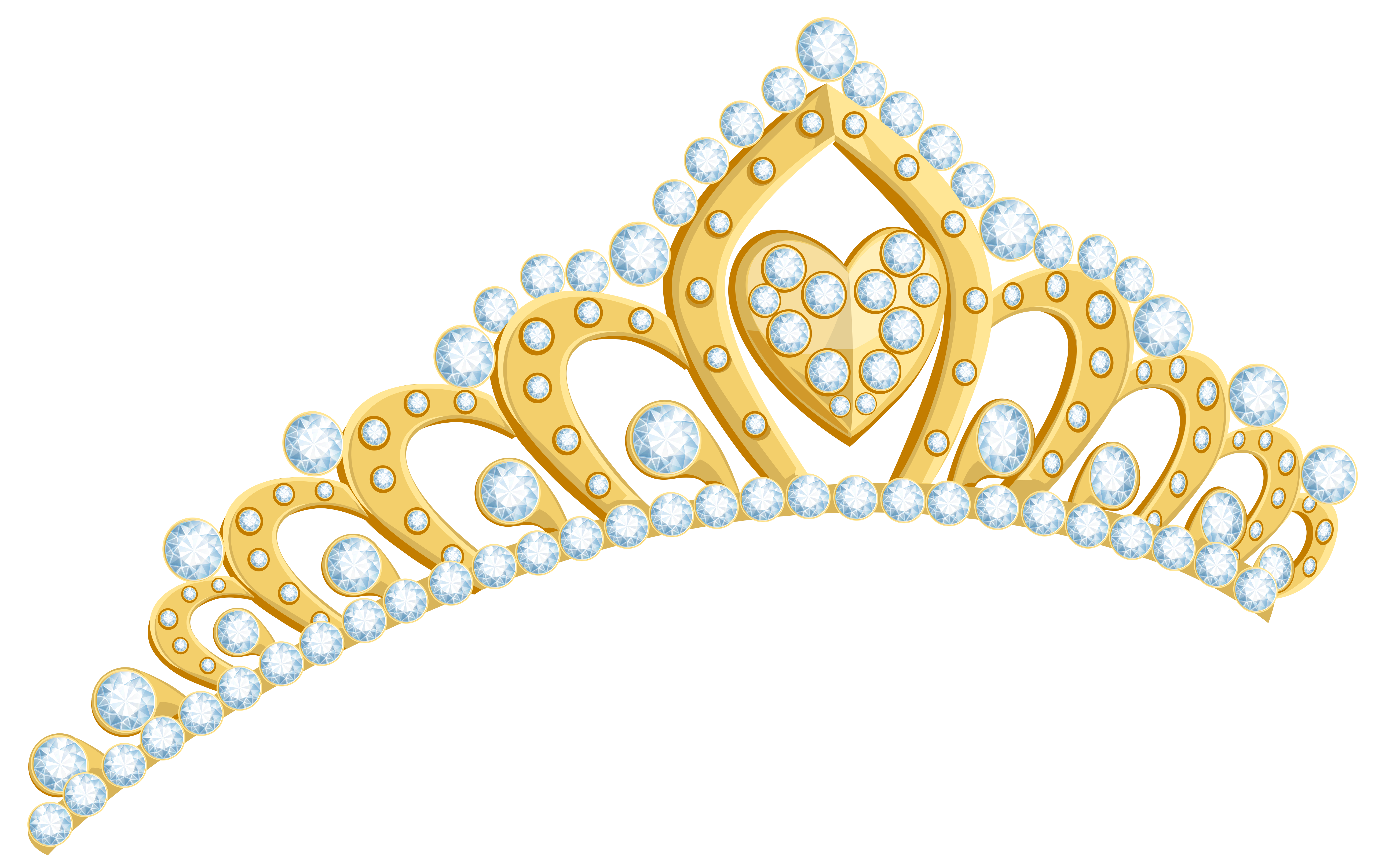 svg freeuse Gold tiara clipart. Golden png image gallery