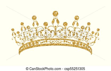 vector library stock Gold tiara clipart. Station