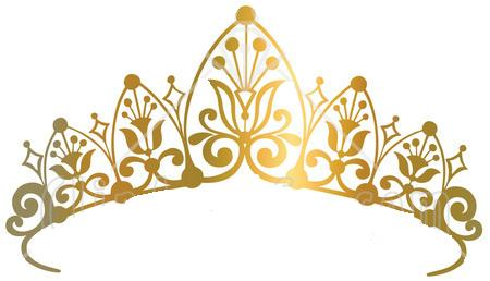 svg free stock Wikiclipart . Gold tiara clipart.