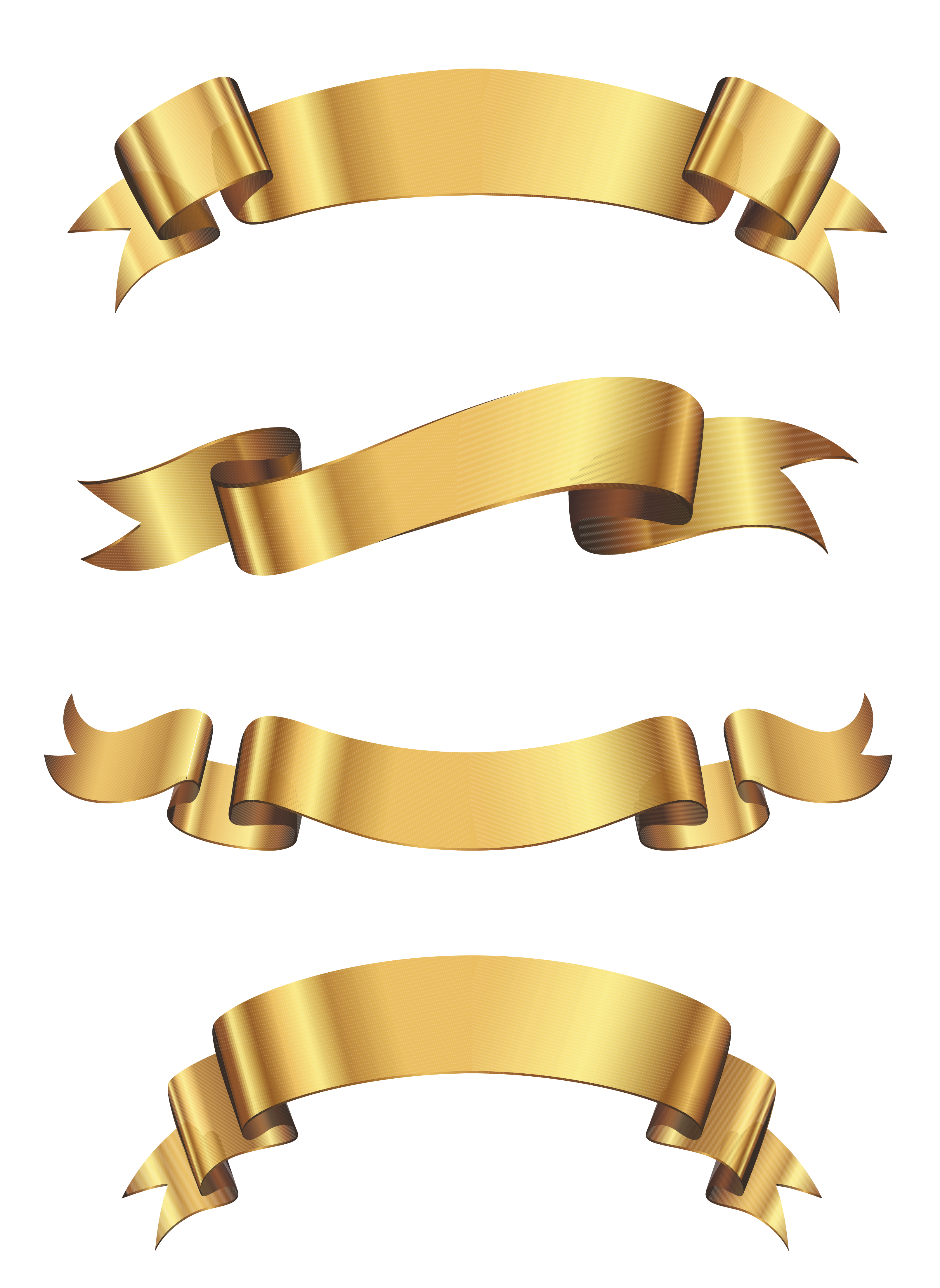png royalty free Banner set png gallery. Golden clipart