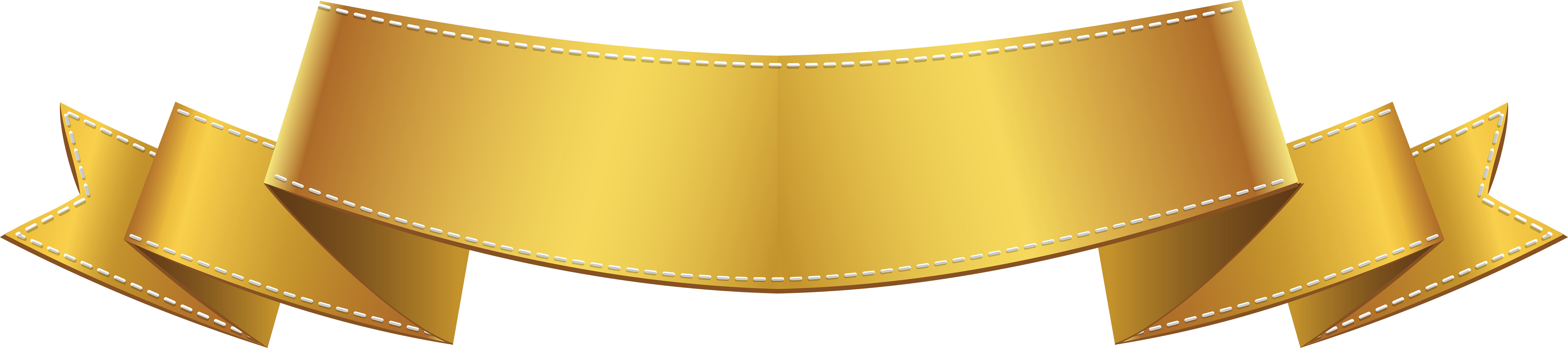 freeuse Banner clip art png. Golden clipart